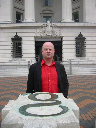 Ben Waddington outside Baskerville House