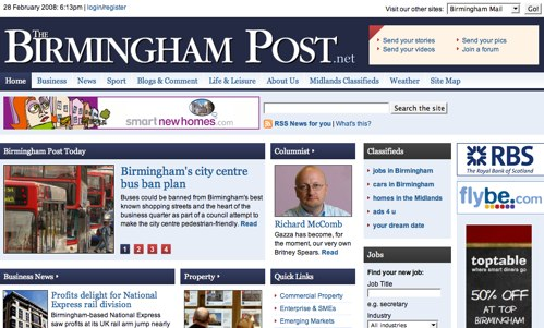 Birmingham Post . net site