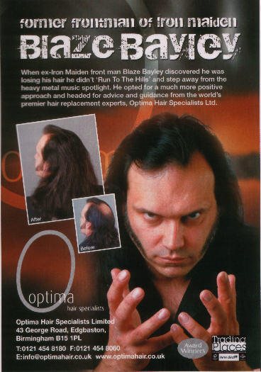 "Blaze Bayley - didn't ""run to the hills"""