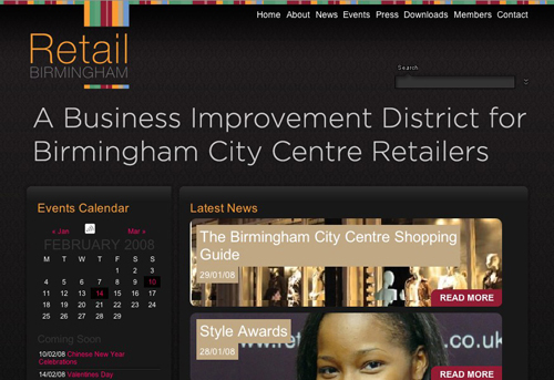 Retail Birmingham Website