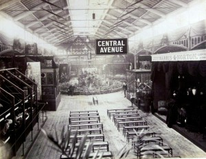 John Collier, Central Avenue, Exhibtion of Local manufactures and natural History, Bingley Hall, 1886. Photo: Birmingham Library and Archive Services
